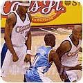 پیک و چرخش یک بازیکن بسکتبال - Pick and Roll